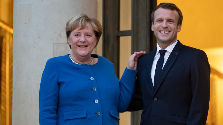 Макрон и Меркел на среща в Париж за световните кризи и ЕС