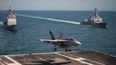 Ирански дрон дразни кацащ изтребител на САЩ