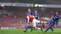 Лестър спря възхода на Арсенал