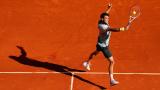 Григор Димитров вече тренира на клей в Монте Карло