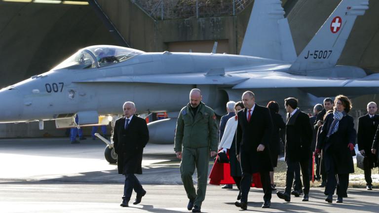 Президентът Румен Радев и швейцарският му колега и домакин Ули