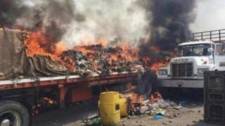 Опитали да внесат части от оръжия в камиони с хуманитарна помощ за Венецуела