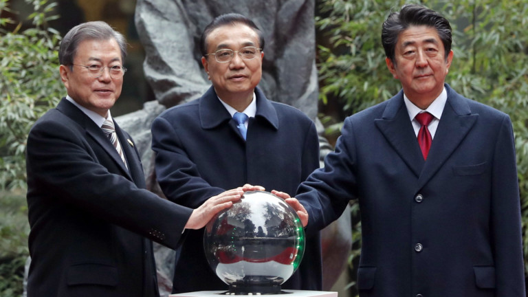 Лидерите на Китай, Япония и Южна Корея повториха ангажимента си