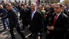 Порошенко събра хиляди привърженици по улиците и на Майдана в Киев