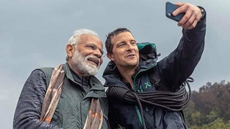 Беър Грилс и индийският премиер поставиха рекорд
