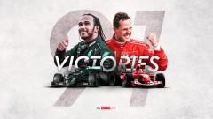 Хамилтън с нова победа, изравни легендарния Шумахер