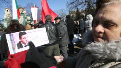 """БСП раздават """"горановки"""" в градинката до парламента"""