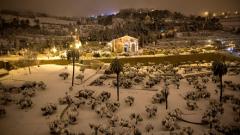 Феномен! Сняг валя в израелската пустиня