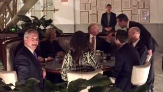 Фараж вечеря с Тръмп и екипа му