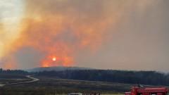 Пожарът от Пехчево в РСМ доближава българската граница