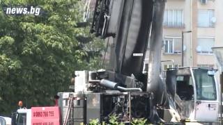 Пазачът на подпаления пред НДК кран сред заподозрените