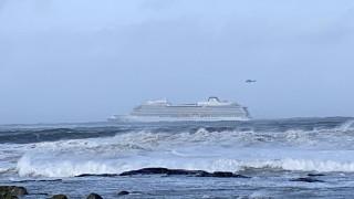 Край бреговете на Норвегия бедства круизен лайнер