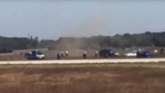 Мъж нахлу с кола на летището в Лион, гонят го 20 полицейски коли и хеликоптер