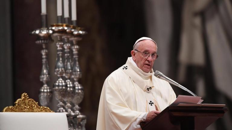 Папа Франциск закуси с бездомници на 80-ия си рожден ден
