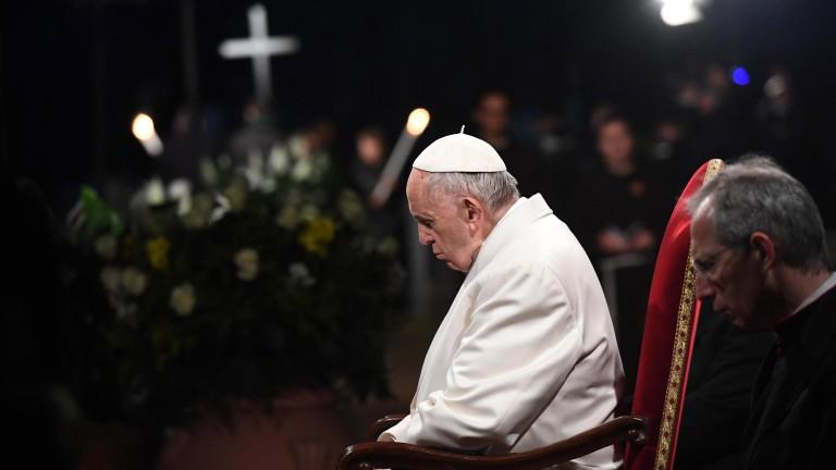 Папата зове хората да се засрамят, че са загубили чувството си за срам