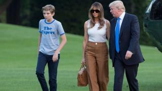 Мелания и Барън Тръмп се преместиха в Белия дом