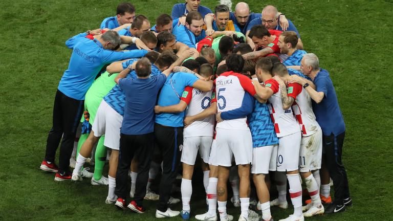 Звездите на хърватския национален отбор и всички представители на спортно-техническия