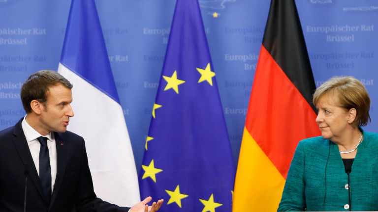 Меркел обмисля да подкрепи Макрон в Давос за сблъсък с Тръмп