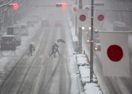 203 полета отменени в Япония заради обилен снеговалеж