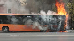 Автобус на градския транспорт се запали в София