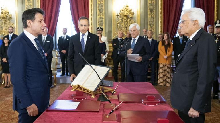 Правителството на Джузепе Конте положи клетва, съобщават италианските медии. По