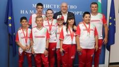 """Министър Кралев награди медалистите от Европейските игри за младежи с увреждания """"Emil Open"""""""
