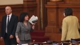 Нинова настоява за Борисов в парламента, ГЕРБ й дадоха шефа на резерва