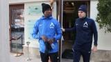 Вижте как тренира нападателят на Левски Найджъл Робърта в Сандански