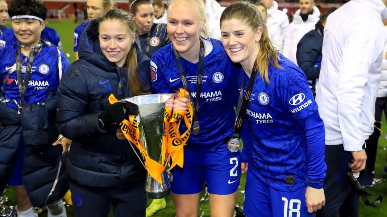Челси спечели шампионската титла на Англия по футбол при дамите,