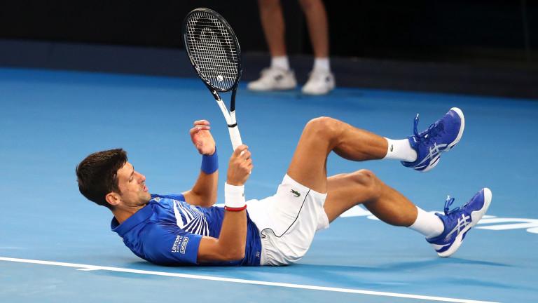 Новак Джоковичпреустанови участието си на US Open. Защитаващият титлата си