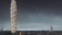 Сгъваем небостъргач ни пази при бедствия
