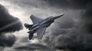 Изтребител F-15 на САЩ се разби в Северно море