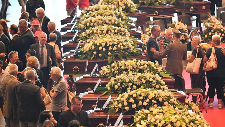 Броят на загиналите при срутването на моста Моранди в италианския
