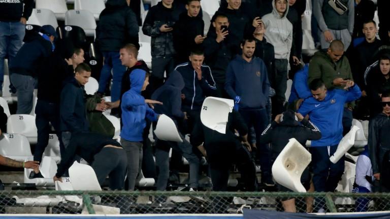 Официално: Ръководството на Левски плаща 55 000 за счупените седалки, Славия и ЦСКА също глобени