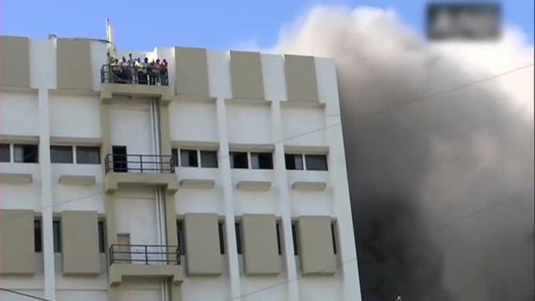Големият пожар избухна днес в девет етажна правителствена сграда в