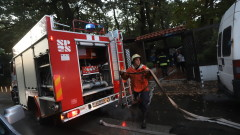 Автобус с ученици се запали в прохода Предела