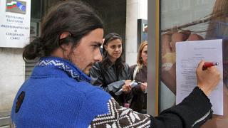 Протест на еколози срещу цианидната технология в Челопеч