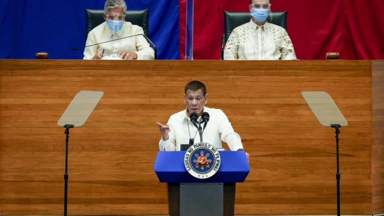 Дутерте иска връщане на смъртното наказание във Филипините