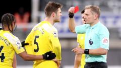 Червеният картон на Йоаким Андерсен беше отменен
