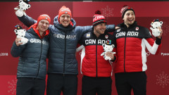 Канада и Германия поделиха златните медали на двуместен бобслей