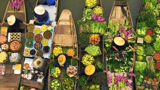 Атракция! Плаващите пазари в Азия (СНИМКИ)