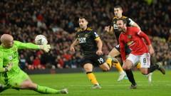 Манчестър Юнайтед надви трудно Уулвърхемптън с 1:0