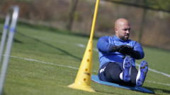 Упражнения с топка за футболистите на Левски