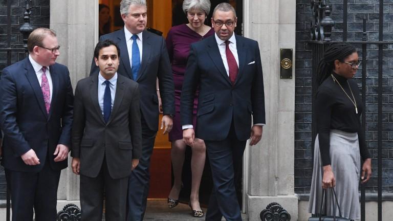 Финансовият министър на Великобритания Филип Хамънд, министърът за Брекзит Дейвид