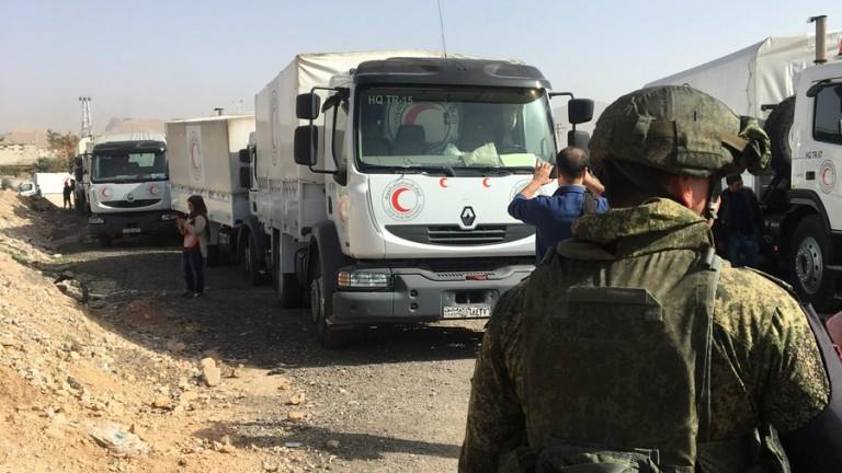 Пускат хуманитарна помощ в Източна Гута