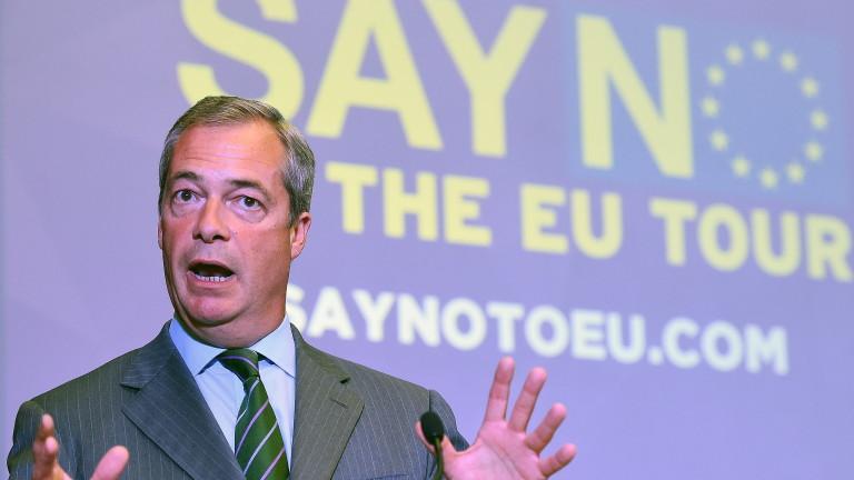 Британският евроскептик Найджъл Фараж се завръща в политиката, за да