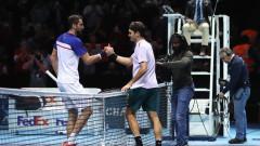 Роджър Федерер победи Марин Чилич в мач без значение