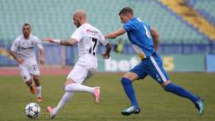Верея си осигури място в Топ 6 на Първа лига след труден успех над Славия
