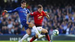 Дербито на кръга в Англия: Челси - Манчестър Юнайтед, 2:2 (Развой на срещата по минути)