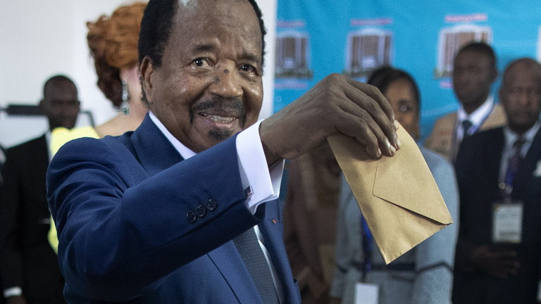 Държавният глава на Камерун Пол Бия, най-възрастният президент в Африка,